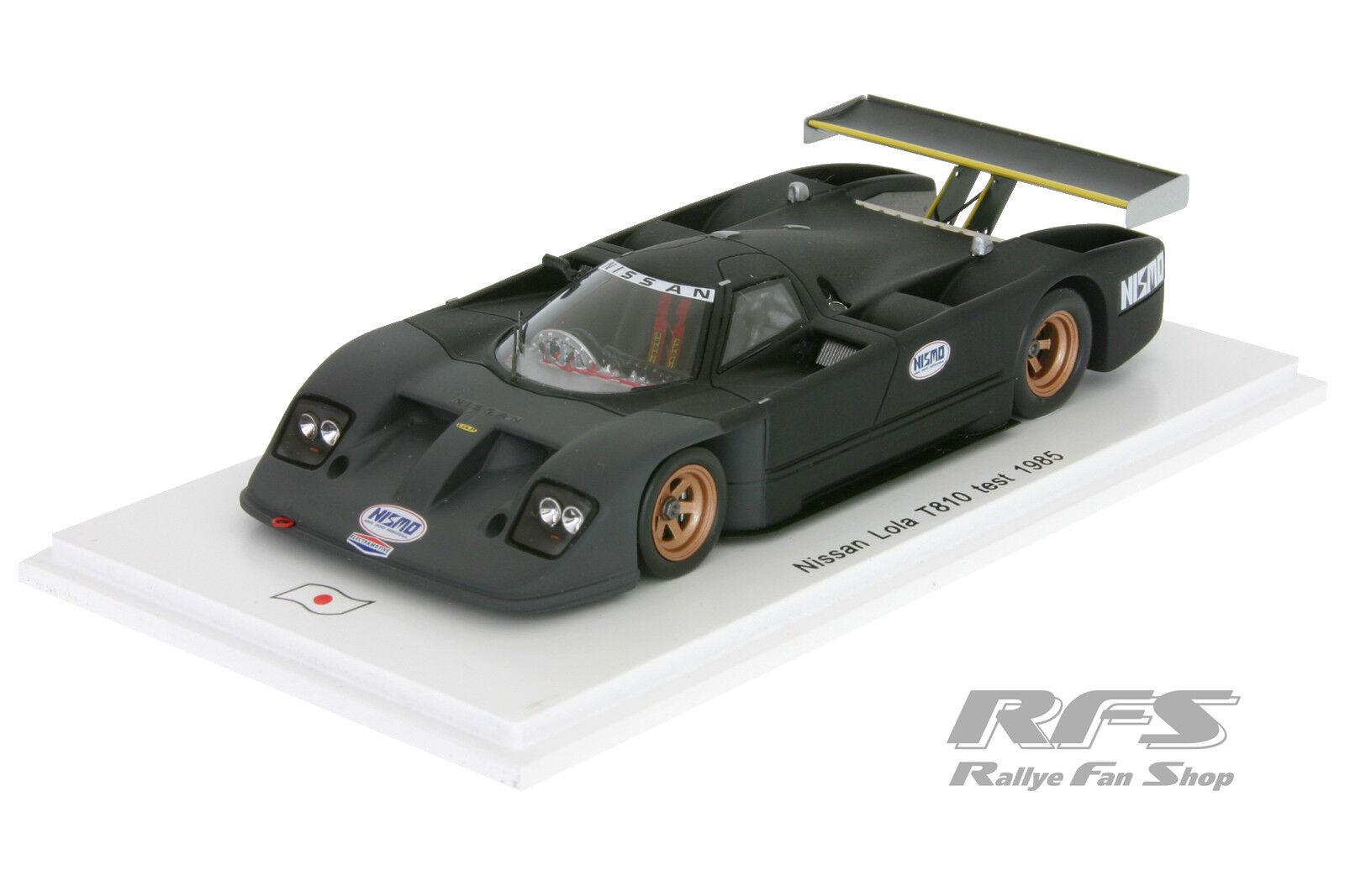 1 43 Nissan Lola t810 Test voiture-Team electramotive-IMSA 1985 Spark  sj023  choix à bas prix