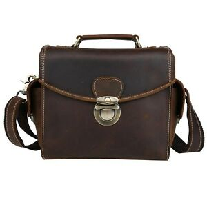 Genuine-Leather-DSLR-Camera-Sleeve-Bag-Messenger-Bag-Cross-Body-for-Nikon-Canon