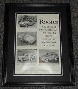 1959-Rootes-11x14-Framed-ORIGINAL-Vintage-Advertisement-Poster