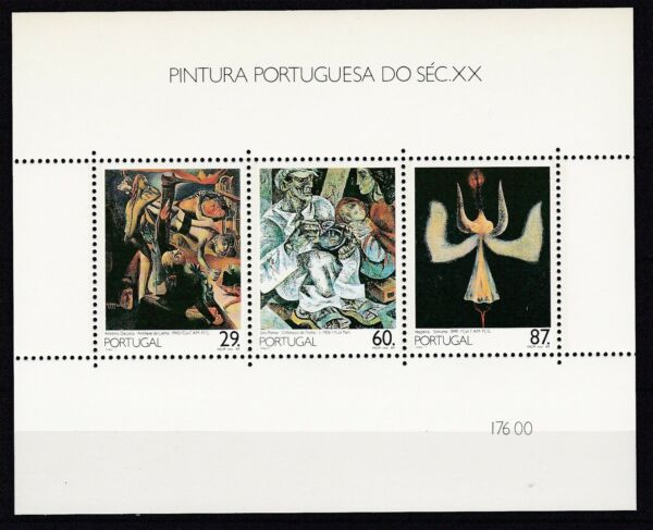 Portugal Tamponné 1989 Minr. Bloc 63 Peintures Valeur Formidable