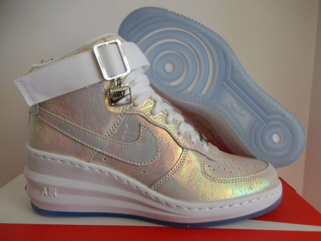 top fashion 7e61a df283 NIKE LUNAR FORCE 1 SKY HIGH PREMIUM QS IRIDESCENT WEDGE SZ 6.5  704518-100
