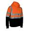 Hi Vis ANSI Class 3 safety pullover hooded sweatshirt fleece hoodie with zipper