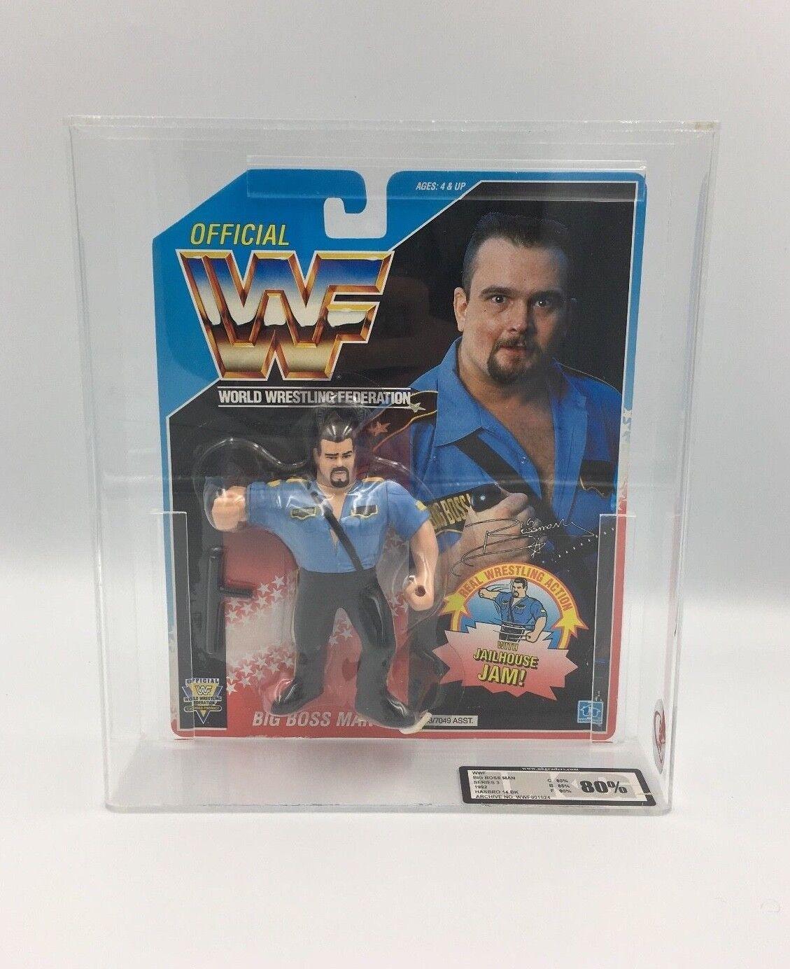 Vintage WWF Hasbro Big Boss Man, Series 3, 1992  UKG not AFA 80%