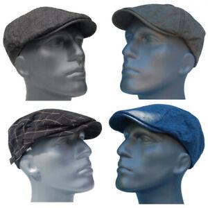 Cool4-Sommer-Flatcap-Schiebermuetze-Herren-Vintage-Gatsby-Cap-Baumwoll-Muetze