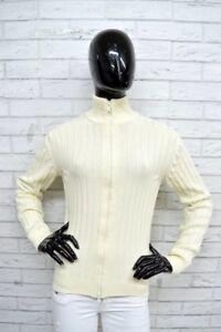 Maglione-Donna-RIFLE-Taglia-Size-S-Pullover-Cardigan-Sweater-Woman-Bianco