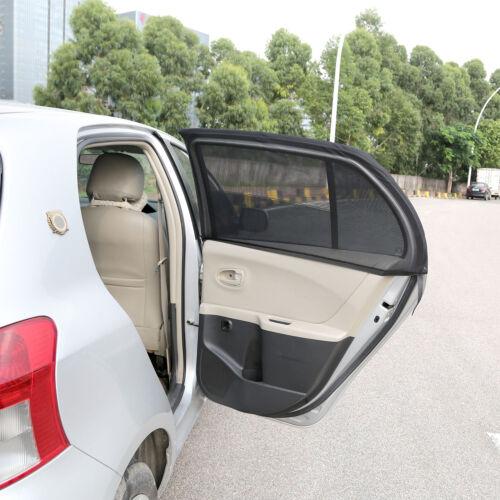 2pc Car Rear Side Window Sun Visor Shade Mesh Cover Shield Sunshade UV Protector