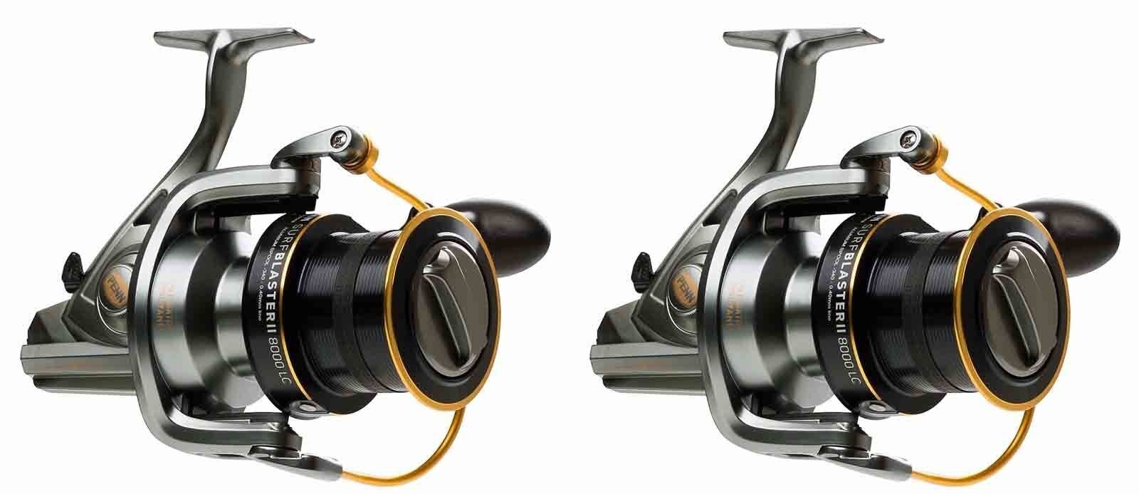 New 2 X Penn Surfblaster 7000 LC Sea Spin Fishing Fixed Spool Reel - 2 X Reels