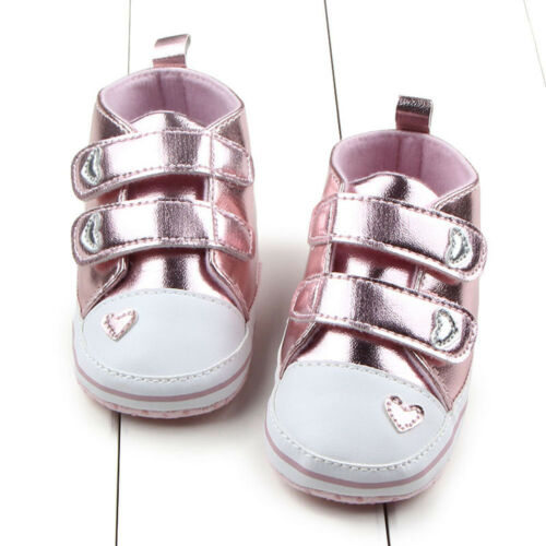 0-18M Toddler Newborn Shoes Baby Infant Kids Girl Soft Sole Leather Sneaker Hot