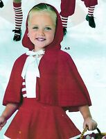 Dance Costume Little Red Ridinghood Cape Girls Szes Only Wolff Fording & Co.