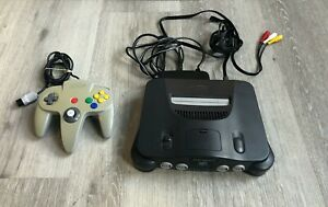 Nintendo 64 N64 Console, Cables, OEM Silver Controller Bundle! Tested & Works!