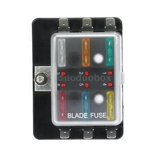 6 way blade fuse box holder led warning light for car boat marine 12v 24v n5p5