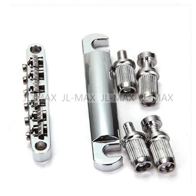 SET ABR-1 Style Tune-o-matic Bridge & Tailpiece Chrome for 12 String Guitar