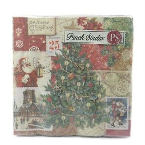 PUNCH-STUDIO-BEVERAGE-NAPKINS-53678-CHRISTMAS-VICTORIAN