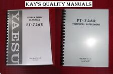 Yaesu FT-736R Instruction & Service Manuals**ON 32 LB PAPER*w/Heavy Covers!!!