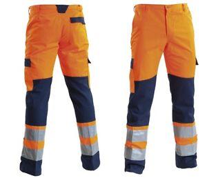 Pantalone-da-lavoro-linea-alta-visibilita-bicolore-e-bande-rifrangenti