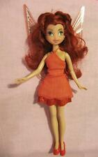 "Disney Fairies Tinkerbell FRIEND ROSETTA Doll 9.5"" TALL 2010 JAKKS CLOTHES SHOES"