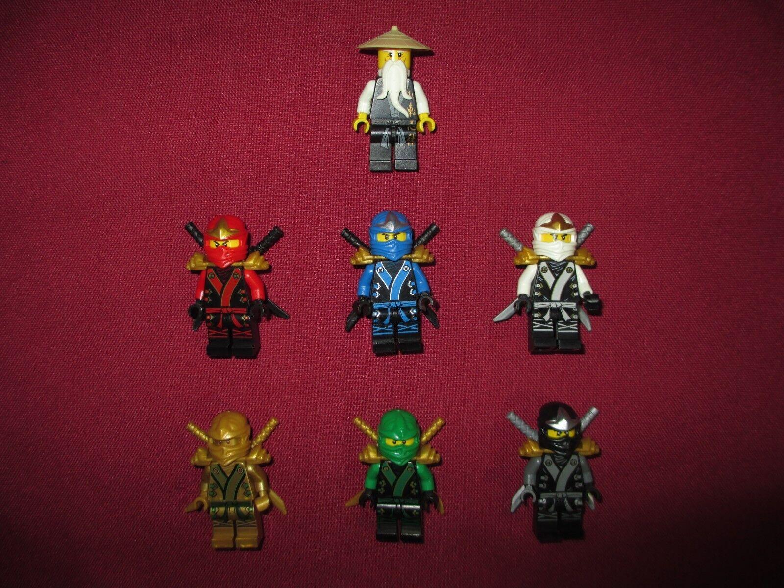 Lego Ninjago minifigures lot, Kimono Costume & Sensei Wu + armes