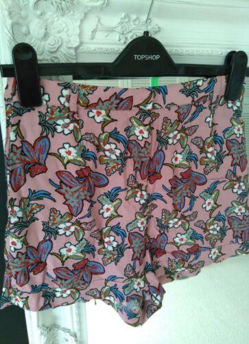 8 New stampati Topshop Bnwot Paradise Pantaloncini Pink taglia q0XOngpwA