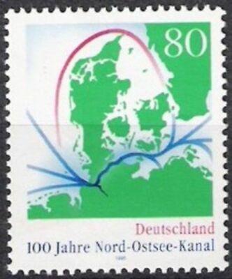 Gewidmet Bund Nr.1802 ** 100 Jahre Nord-ostsee-kanal 1995, Postfrisch