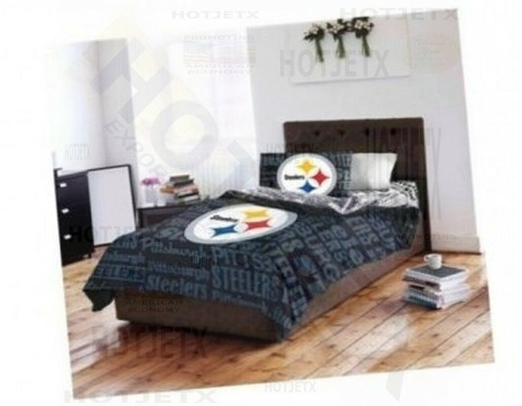 Pittsburgh Steelers Bedding Set Football Twin Nfl Football Set Bed