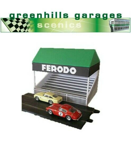 Greenhills Scalextric Slot Car Building Goodwood Grandstand Kit 1:43 Scale - ...