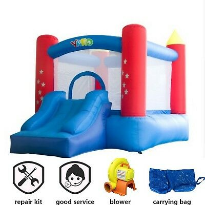 Inflatable Bounce House Castle Blue Red Star Princess Bouncy Trampoline For Kids