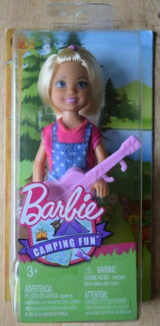 Camping Fun Chelsea Doll Dyx05 Barbie Kelly Club Pink Guitar Camp Mattel For Sale Online Ebay