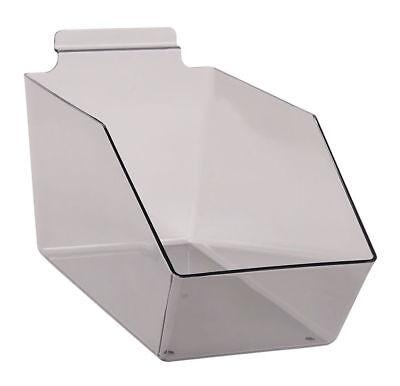 "Dump Bins For Slatwall White Set of 6 Plastic Slat Wall Display 6"" x 11 ½"" x 5"
