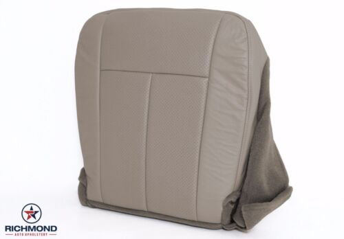 Driver Side Bottom Perforated Leather Seat Cover Gray 2007 2008 Ford Expedition