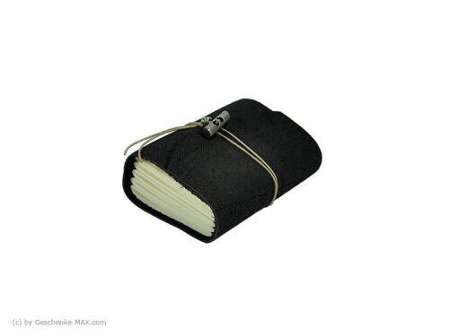 Tagebuch Notizbuch - Büffelleder A7 - 400 Seiten - Mocca - vw-2305-437