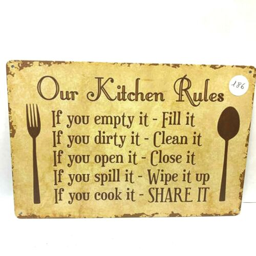 Metal Tin Sign Kitchen Man Cave Plaque Bar Vintage Retro Home Wall Decor Poster