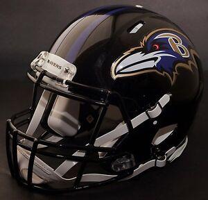 ff969875fe4 Image is loading CUSTOM-BALTIMORE-RAVENS-NFL-Riddell-Full-Size-SPEED-