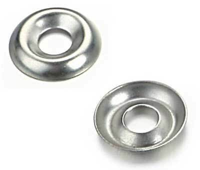 """1//4/"""" Nickel Plated Countersunk//Cup Finishing Washers 100"""