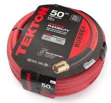 USA Air Hose 50 ft. x 1/2 in. Rubber Air Hose 250 PSI with Bend Restrictors
