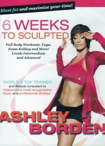 6 WEEKS TO SCULPTED WITH ASHLEY BORDEN DVD NEW SEALED WORKOUT EXERCISE