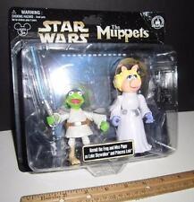 Star Wars Muppets - Kermit Luke & Miss Piggy Princess Leia - Disney Parks - Rare