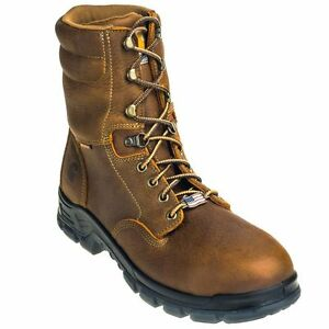 5434ee51b96 Details about Carhartt Men's CMZ8340 USA-Made Waterproof 8-Inch Composite  Toe Work Boots