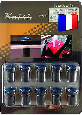 Kit Bulle 10 Boulons Bleu Pw R1 Rd Royal Star Sr Tdm Tt