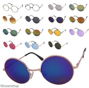 e0750b5acea Details about Vintage 60 s Round Lens Mens Womens Sunglasses Tea Shade John  Lennon