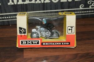 Britains Bmw & Rider Silver Racer Version Cat-N ° 9688 Boxed Excellent