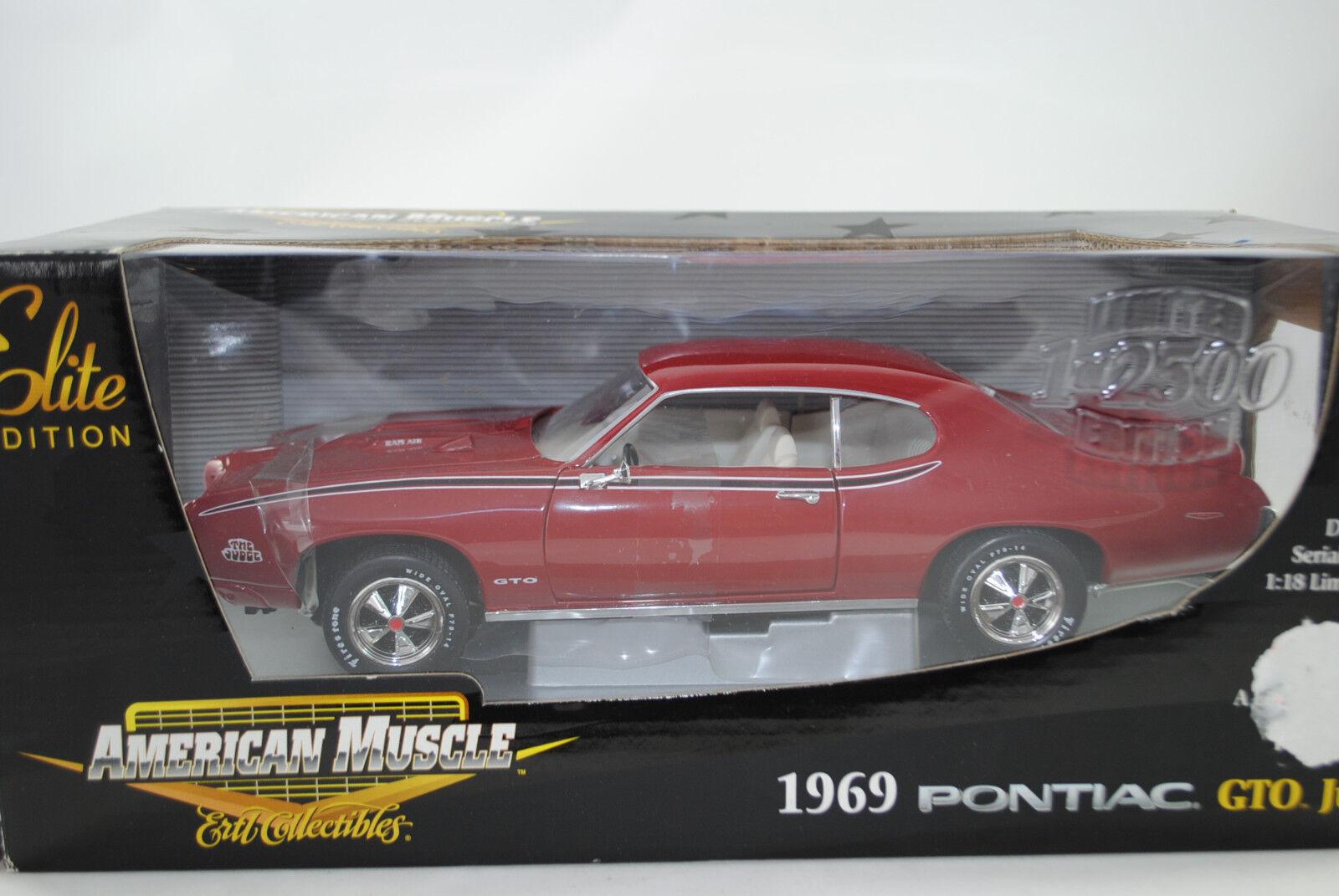 1:18 Ertl Elite 1969 Pontiac Gto Giudice Edizione Limitata  39301 Nuovo / Conf.