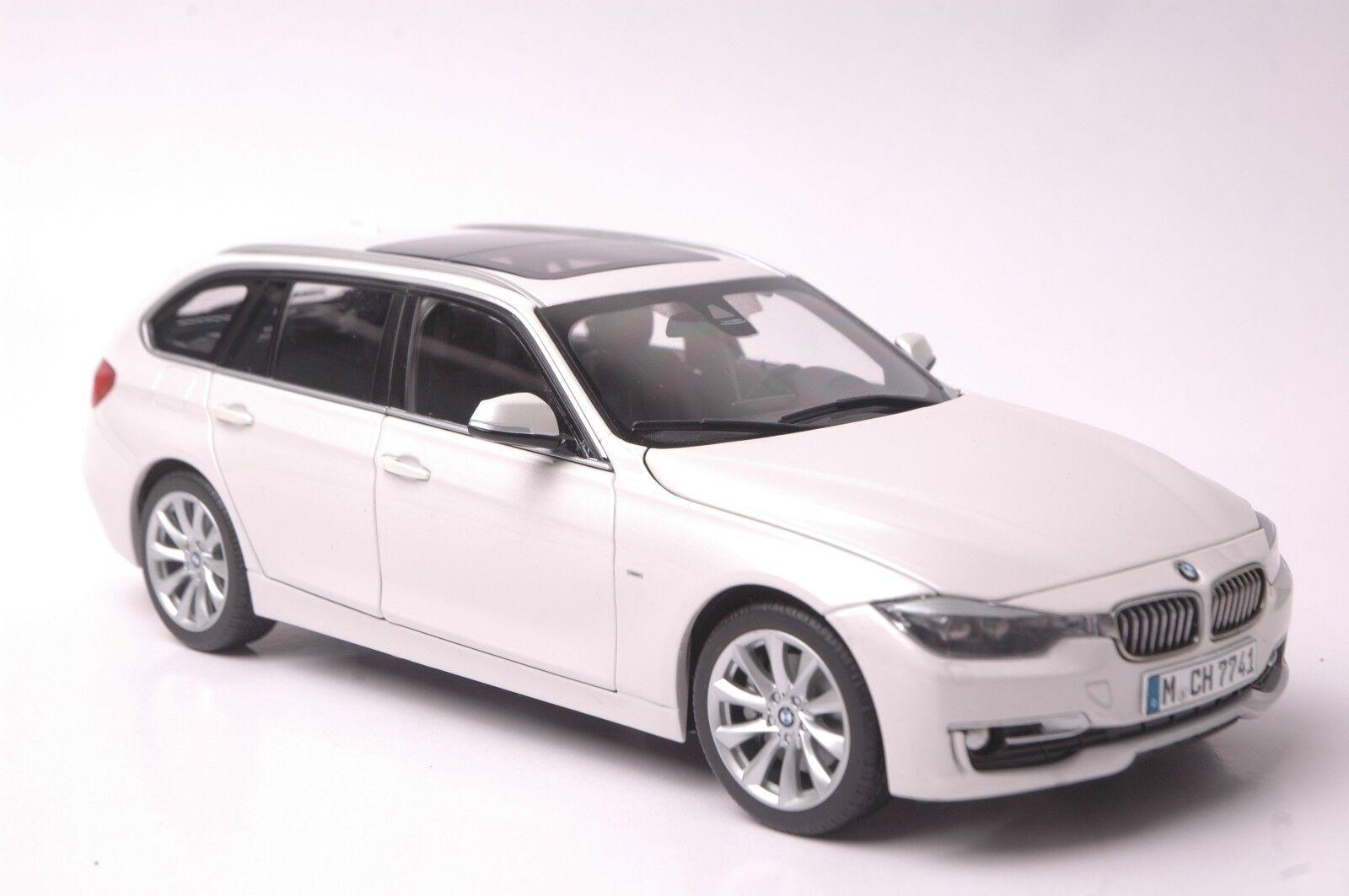 calidad oficial BMW serie 3 Touring coche modelo modelo modelo en escala 1 18 blancoo  nuevo estilo