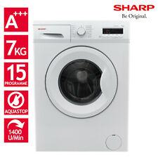 Waschmaschine Frontlader A+++ 7kg 1400 U/m Aqua Stop SHARP ES-FB7143W3A-DE LED