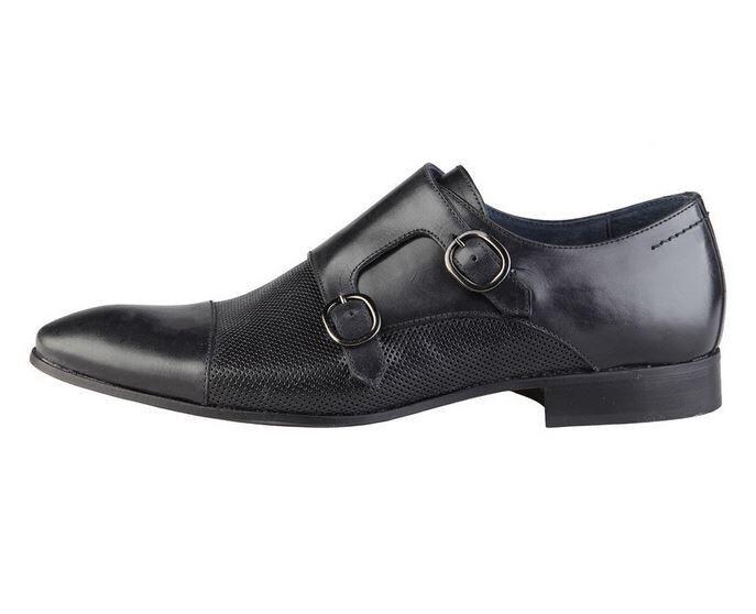 [NEU] Versace V1969 Baptiste schwarz Echtleder Business Herrenschuhe alle Größen