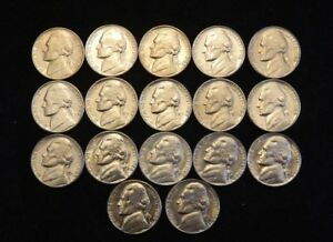 Details about 1960 - 1969 Jefferson Nickel Run Bu from OBW rolls and mint  sets 17 coins
