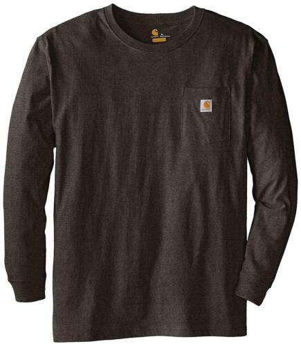 Tall Fit Big Carhartt Men/'s Long Sleeve Pocket T-shirt Cotton Regular K126