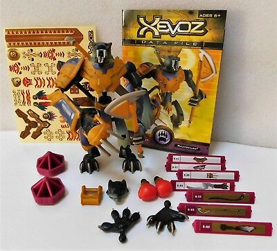 2003 Hasbro Xevoz Stikfas Battling Action Figures Kit Meta-Beast Razorclaw NIB