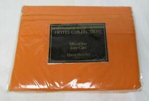 Microfiber-queen-sheet-set-Microfiber-orange-new-Hotel-Collection