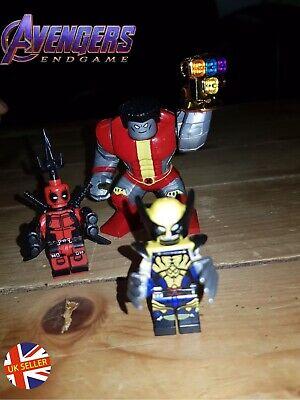 Colossus Deadpool Wolverine Figure Set Lego Avengers End Game Gauntlet UK Seller