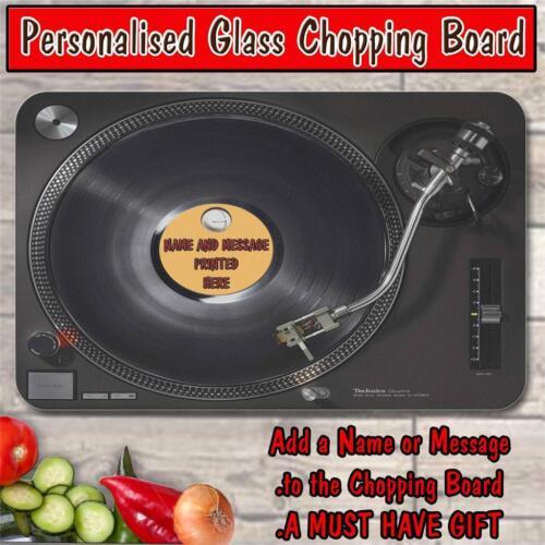 Personnalisé Tech disque vinyle en verre à découper Board HOUSE Warming Cadeau ST781